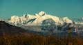 Mont blanc view of mountain covered with snow Royalty Free Stock Images