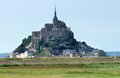 Mont saint michel abbey the in lower normandy france at evening time Stock Image