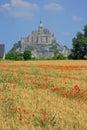 Mont saint michel brittany france Lizenzfreie Stockbilder