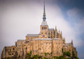Mont saint michel brittany france abbey close up Stock Images
