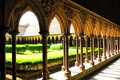 Mont Saint Michel Cloister Stock Images