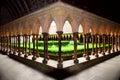 Mont Saint Michel cloister gar Stock Image