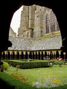 Mont Saint Michel cloister Royalty Free Stock Photo