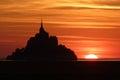 Mont saint michel frança Imagem de Stock Royalty Free