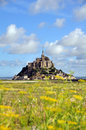 Mont saint michel in france abbey Stock Photos