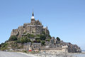 Mont saint michel le abbey normandy brittany france Royalty Free Stock Photography