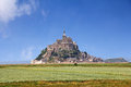 Mont saint michel le abbey normandy brittany france Stock Images