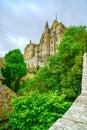 Mont saint michel monastery gränsmärke france normandy Royaltyfria Bilder