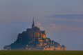 Mont saint michel on the normandy coast france Royalty Free Stock Photos