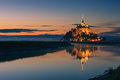 Mont saint michel at the normandy coast france Royalty Free Stock Images