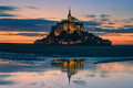 Mont saint michel at the normandy coast france Royalty Free Stock Photo