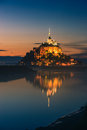 Mont saint michel at the normandy coast france Stock Photo