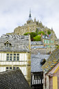 Mont saint michel normandy france beautiful are part of the unesco list of world heritage siteson Stock Photography