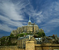 Mont saint michel normandy france one of the most visited tourist sites in designated as one of the first unesco world Stock Image