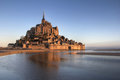 Mont Saint Michel reflection Stock Photo