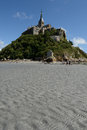 Mont saint michel scenic view of at low tide france Stock Photo