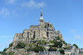 Mont saint michel scenic view of normandy france Stock Image
