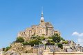 Mont st michel normandy francja Obrazy Royalty Free