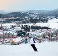 Skiers in Busy Ski Resort