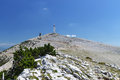 Mont ventoux provence famous mountain in south france finish from one stage of tour de france Royalty Free Stock Photography