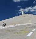 Mont ventoux provence famous mountain in south france finish from one stage of tour de france Royalty Free Stock Images