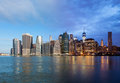 Montage of manhattan skyline night to day new york usa Royalty Free Stock Photo