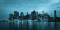 Montage of manhattan skyline night to day new york usa Royalty Free Stock Images
