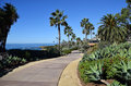 Montage Resort Park and public access walkway in South Laguna Beach, California. Royalty Free Stock Photo