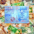 A Montage of Various Middle Eastern Currencies Royalty Free Stock Photography