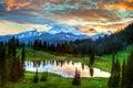 image photo : Mount Rainier Twilight