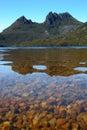 Montagne de berceau et lac dove Image libre de droits