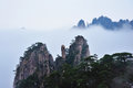 Montagne de Huangshan Photos stock