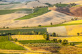 Montalcino tuscany panoramic view from siena italy in a summer evening Stock Photography
