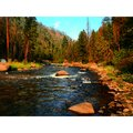 Montana creek gorgeous sunset landscape Royalty Free Stock Photos