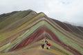 Montana De Siete Colores near Cuzco Royalty Free Stock Photo