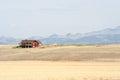 Montana farmhouse Royalty Free Stock Photo