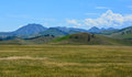Montana grasslands wild grass lands border the john marshall wilderness area east of the continental divide in Stock Photo