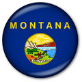 Montana State flag button Royalty Free Stock Images