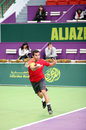 Montanes at Qatar Open tennis Royalty Free Stock Photo