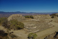 Monte Alban - the ruins of the Zapotec civilization in Oaxaca, M Royalty Free Stock Photo