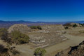 Monte Alban - the ruins of the Zapotec civilization in Oaxaca Royalty Free Stock Photo