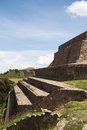 Monte alban the site of in mexico Royalty Free Stock Photos