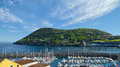 Monte Brasil mountain and marina, Angra do Heroismo, Terceira island, Azores