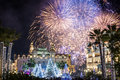 Monte Carlo Casino during New Year Celebrations Royalty Free Stock Photo