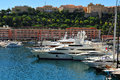 Monte carlo harbour view of in monaco Stock Image
