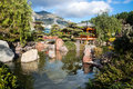 Monte carlo japanese garden is a municipal park on the avenue princess grace in the larvotto ward of monaco Royalty Free Stock Photo
