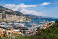 Monte carlo monaco april an assortment of boats and yach yachts in the harbour at on Stock Photos
