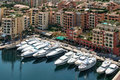 Monte carlo monaco april an assortment of boats and yach yachts in a marina at on Stock Photos