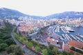 Monte carlo monaco panoramic view wide Royalty Free Stock Photos