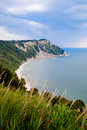 Monte conero natural park marches italy the adriatic sea coast in the Stock Images